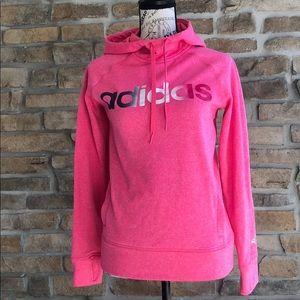 Adidas pink hoodie climawarm hoodie w thumb holes